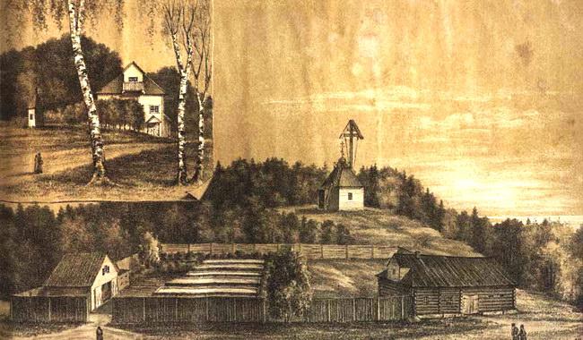 Макарьевская пустынь на литографии 1887 г